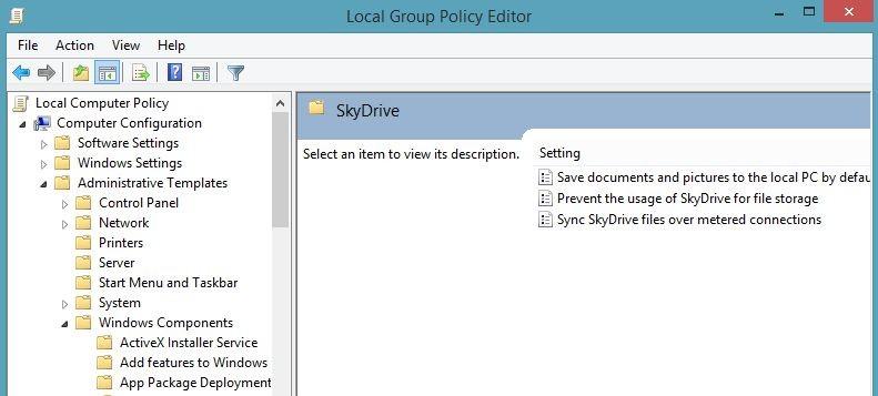 Настройка SkyDrive в Windows 8.1