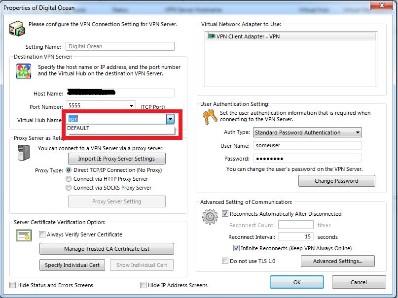 Настройка VPN сервера SoftEtherVPN под Linux