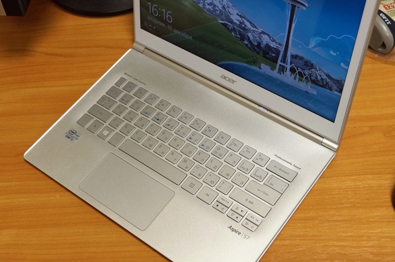 Нечто оригинальное. Обзор ультрабука Acer Aspire S7