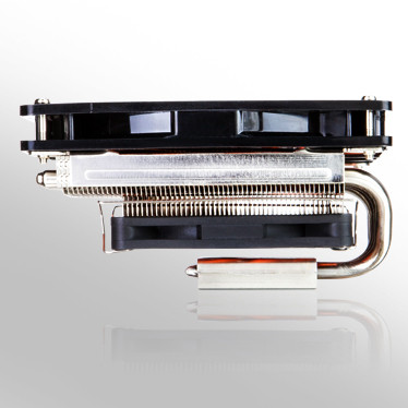 Высота низкопрофильного процессорного охладителя Xigmatek Janus равна 60 мм
