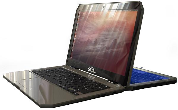 Ноутбук Sol оснащён солнечной панелью