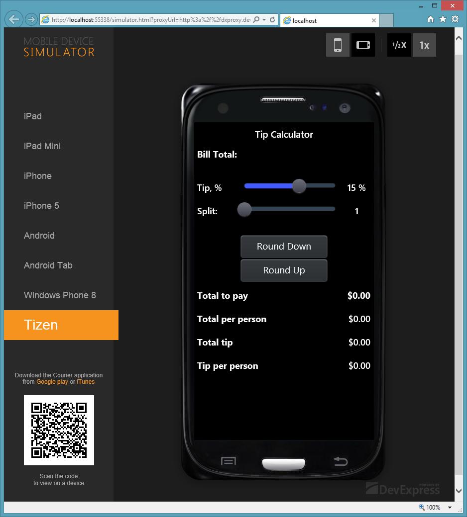 Новая версия DevExtreme с поддержкой платформы Tizen