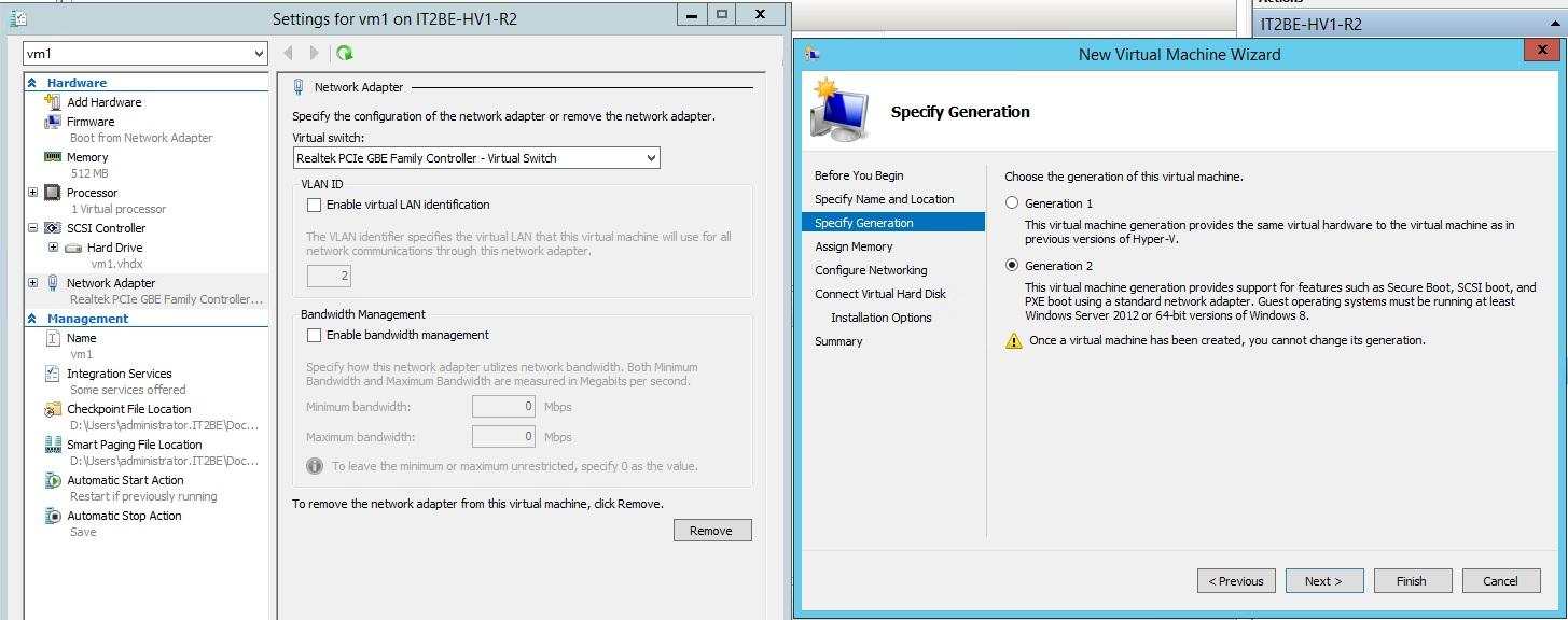 Новые возможности Hyper V 2012 R2