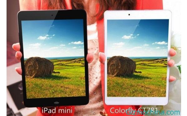 Новый планшет Colorful с экраном размером 7,85 дюйма очень напоминает iPad mini, но имеет меньшую толщину