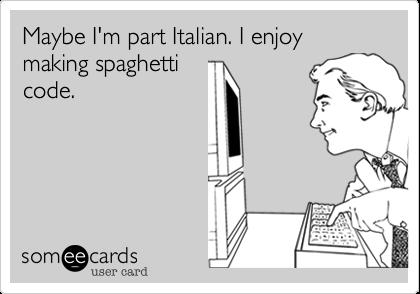 О достоинствах спагетти методологии