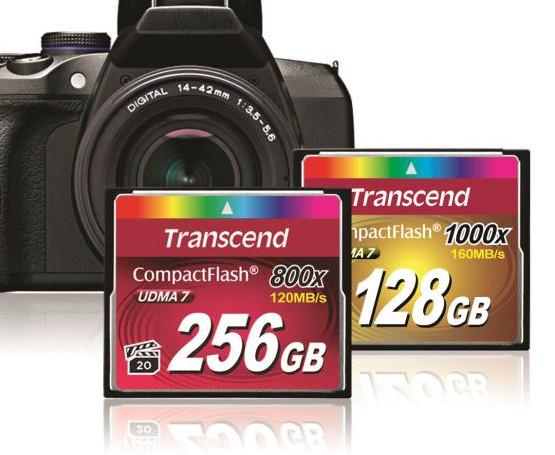 Карты памяти Transcend Premium CompactFlash 800x соответствуют спецификации VPG-20