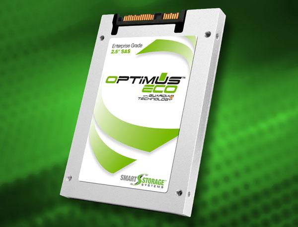 В твердотельных накопителях Smart Storage Systems Optimus Eco используется 19-нанометровая флэш-память типа MLC NAND