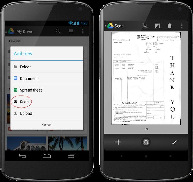 Обновился Google Drive для Android — фото документов распознаются и сохраняются в виде PDF
