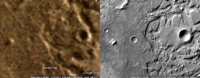 Обновленные карты Марса от Google
