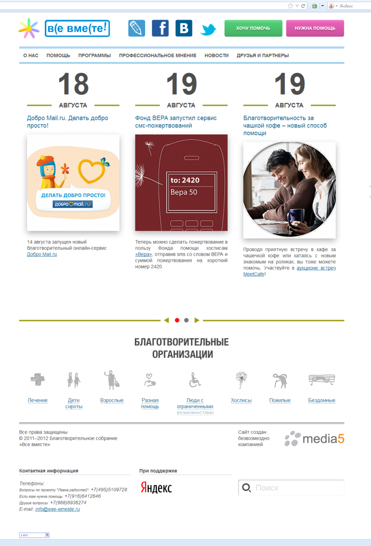 Обзор благотворительных проектов в рунете
