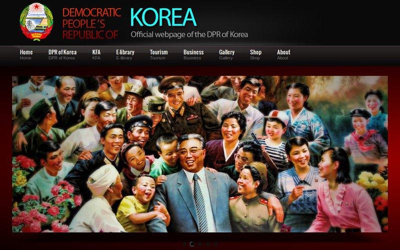 Официальный сайт КНДР сделан на шаблоне за $15