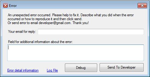 Окно сообщения об ошибке для WinForms и WPF приложений
