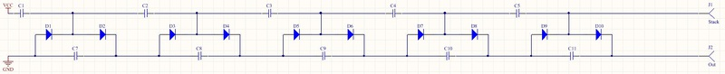 Опасное развлечение: простой генератор высокого напряжения Кокрофта Уолтона