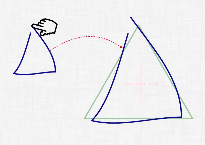 Определение процента схожести нарисованного 2d полигона с заданным шаблоном