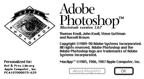 Опубликован исходный код Photoshop 1.0
