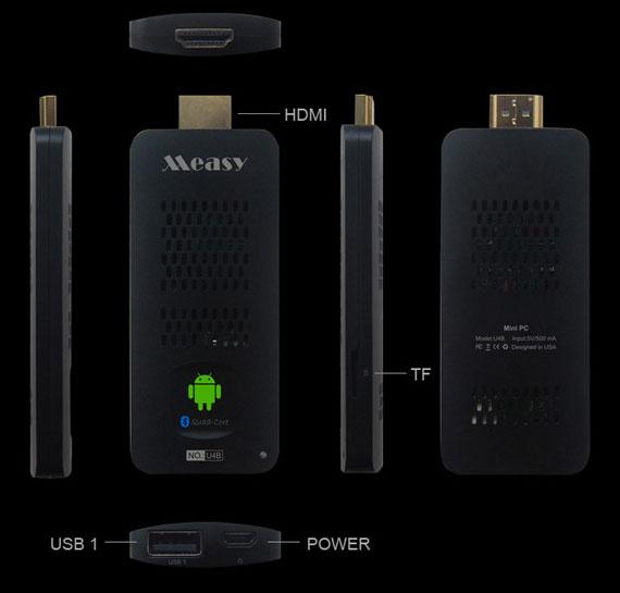 Работает микро-ПК Measy U4B под управлением ОС Android 4.2