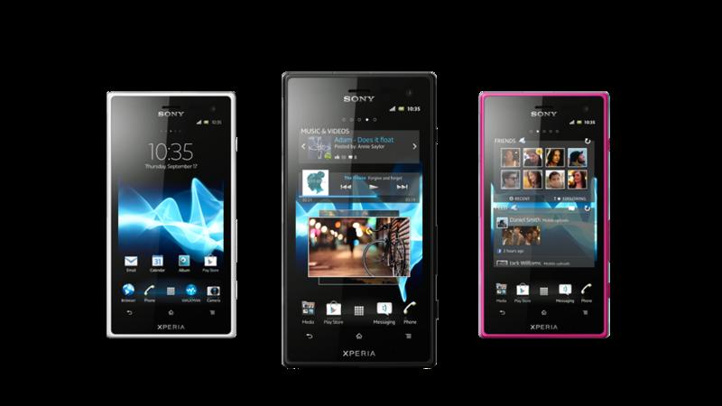 Особо прочные новинки Sony: Xperia acro S и Xperia go