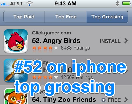 Падение Angry Birds