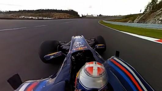 Панорамное видео из кабины болида Формулы 1