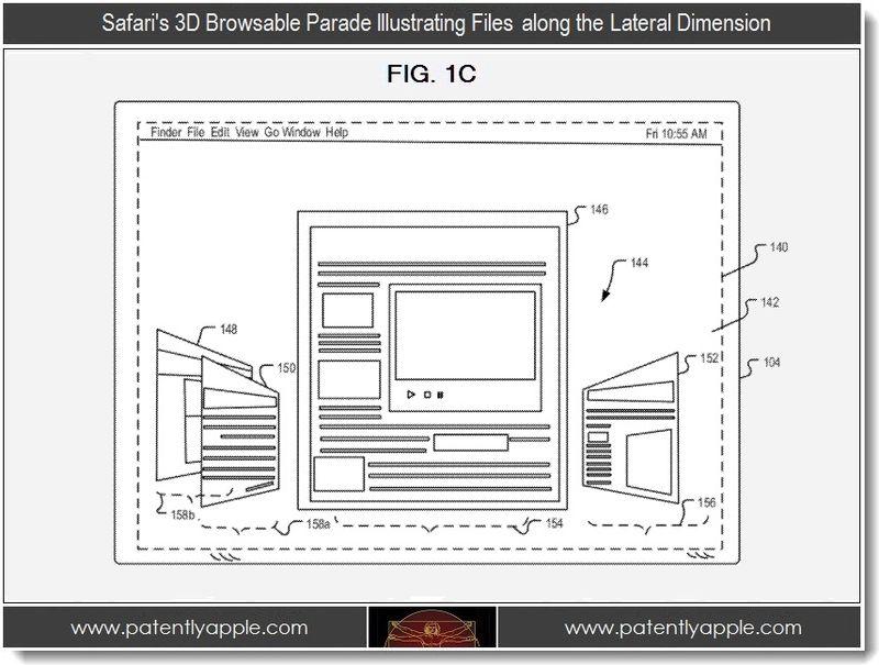 Патентная заявка Apple: 3D интерфейс в Safari