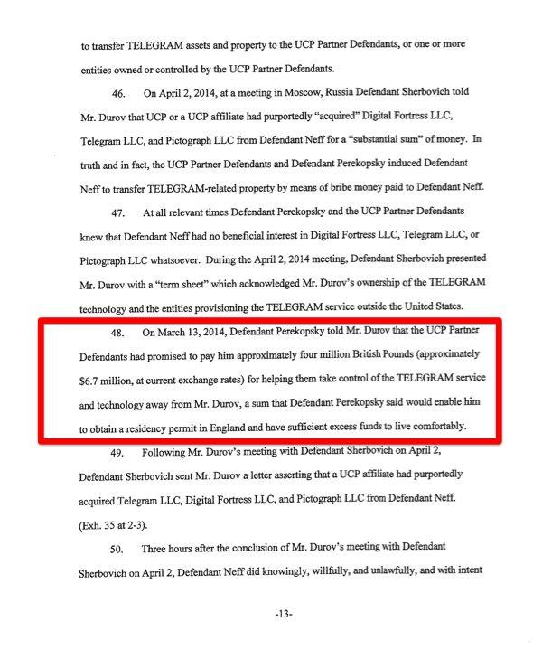 Павел Дуров обвинил UCP в рэкете и коррупции (+ сканы исковых заявлений)
