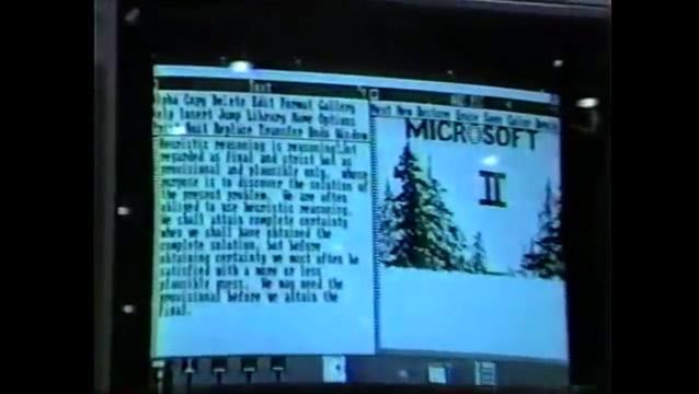 Первая видеозапись интерфейса Windows (1983 год)
