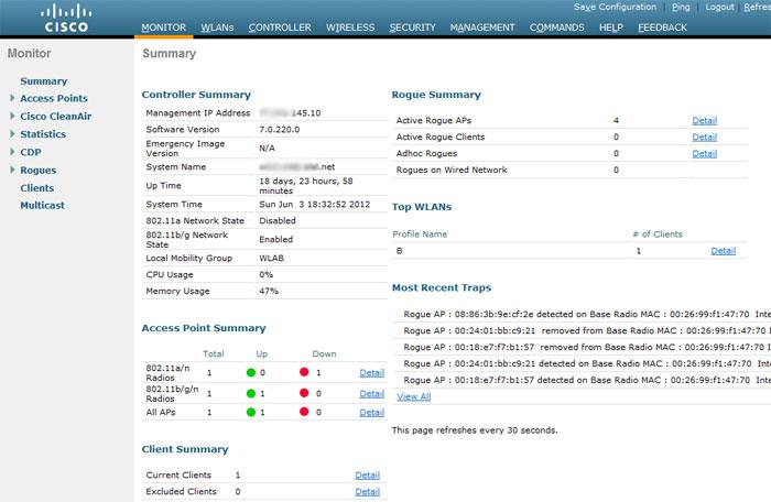 Первоначальная настройка Wi Fi контроллера Cisco