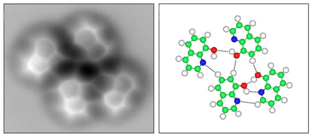 Первые изображения водородных связей