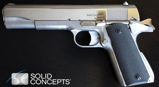 Первый металлический пистолет, напечатанный на 3D принтере