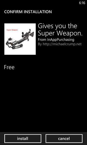 Первый опыт разработки под Windows Phone: In App Purchasing