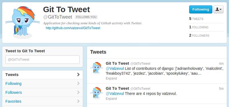 Пишем бота для Twitter на основе GitHub API