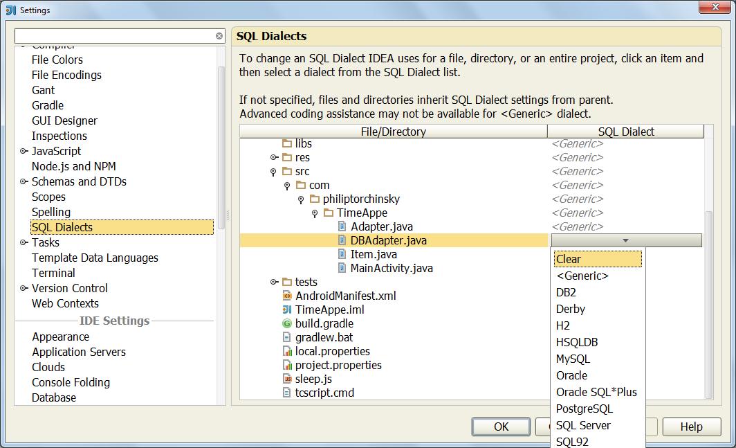 Плагин Database Support в IDE от JetBrains - Версия для печа