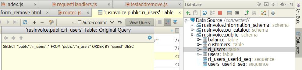 Плагин Database Support в IDE от JetBrains