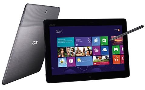 Размер экрана x86-свместимого планшета ASUS VivoTab равен 11,6 дюйма