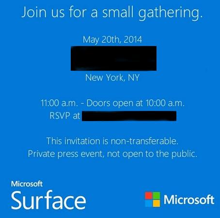 Приглашение на специальное мероприятие Microsoft содержит намек на возможный анонс планшета Surface Mini