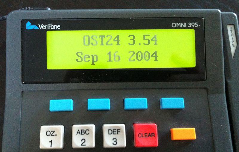 Платежный терминал OMNI 395 изнутри