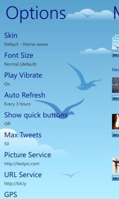 Подброрка Twitter клиентов для Windows Phone 7