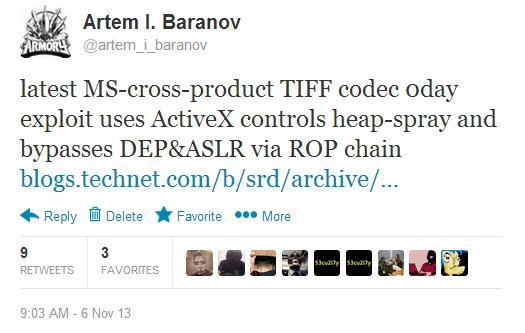 Подробности о направленной атаке с использованием Win32/Exploit.CVE 2013 3906.A