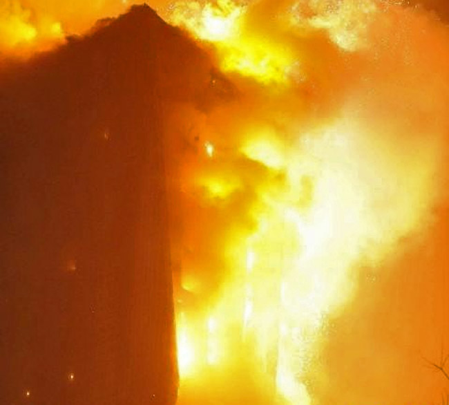 Пожар на фабрике Hynix в Китае