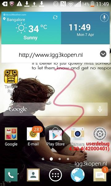 Пользовательский интерфейс смартфона LG G3 выполнен с соблюдением принципов flat-дизайна