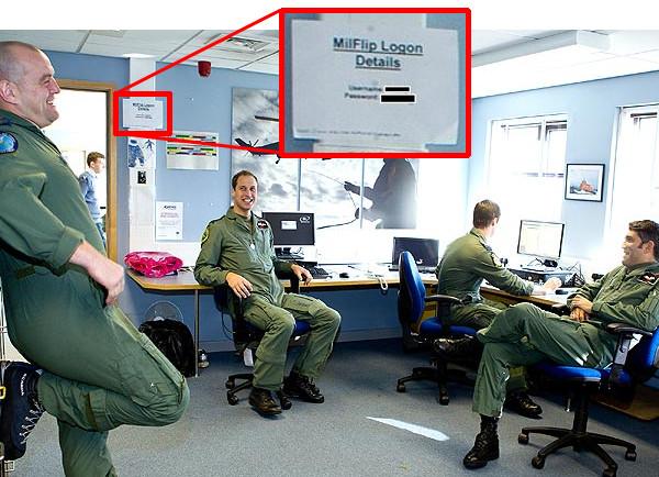 После публикации фотографий принца Уильяма на базе Королевских ВВС военным пришлось менять пароли