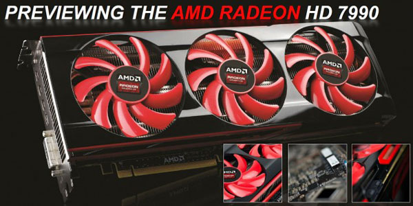 Два процессора Tahiti 3D-карты AMD Radeon HD 7990 работают на частоте 1 ГГц