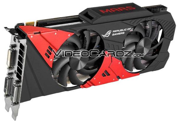 Основой 3D-карты Asus ROG Mars 760 будет пара GPU GK104-425