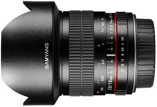 Объектив Samyang 10mm 1:2.8 ED AS NCS CS предназначен для интерьерной, архитектурной и пейзажной съемки