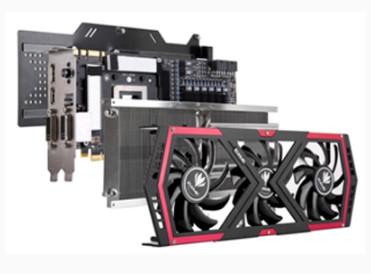 В конструкцию охладителя 3D-карты Colorful iGame 780-3GD5 входит шесть тепловых трубок