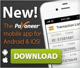Приложение Payoneer для iOS и Android готово