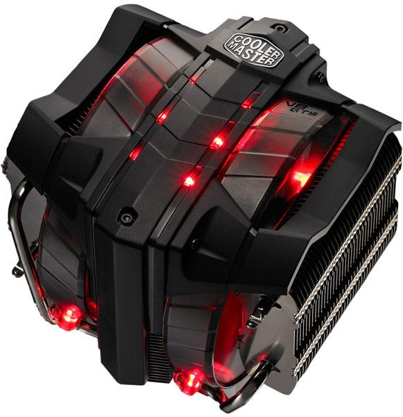 Конструкция Cooler Master V8 GTS включает восемь тепловых трубок