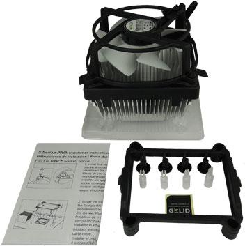 Процессорный охладитель Gelid Siberian Pro оснащен 92-миллиметровым вентилятором