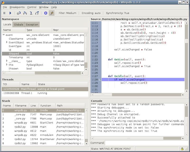 Профилирование и отладка Python, отладка