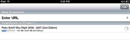 Просмотр интернет видео на iPad в оффлайне
